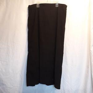 Christopher and Banks black long skirt women's 16